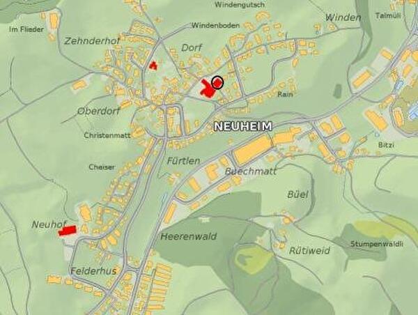 Bild Lage Schulhaus Dorf II