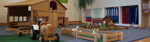 Bauernhof im Kindergarten