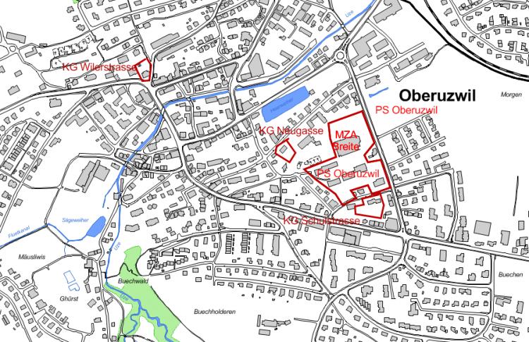 Lageplan PS Oberuzwil