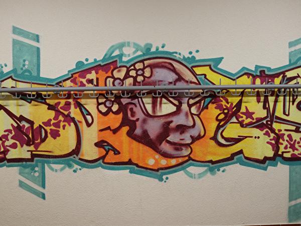 Graffitty im Schulhaus Vorder Zelg (Projektwoche)
