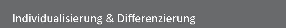 Individualisierung und Differenzierung