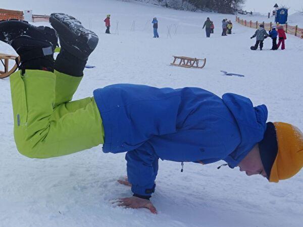 Turtle Freeze im Schnee