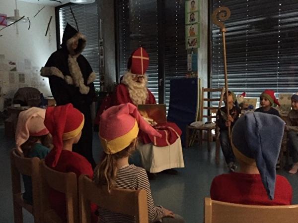 Samichlaus im Kindergarten Guthirt