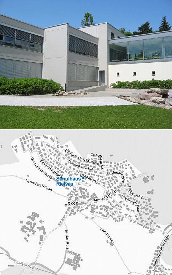 Schulhaus und Schülerclub Rietwis