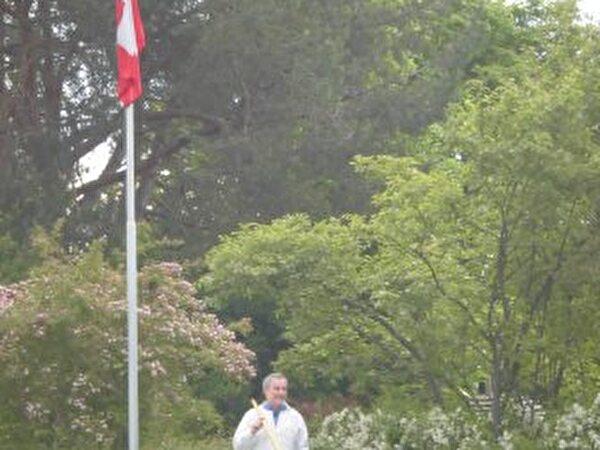 Schweizer Alphornbläser zur Eröffnungsfeier
