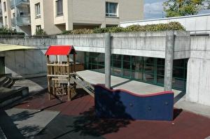 Der Kindergarten Mettmenried liegt mitten in der gleichnamigen Siedlung.