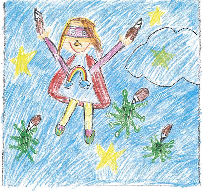 Zeichnung der Gewinnerin Aliki