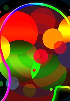 Kopf mit farbigen Ideen