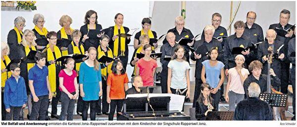 Singschule Rapperswil-Jona zusammen mit der Kantorei Rapperswil-Jona
