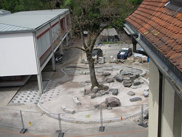 Pausenplatz-Neugestaltung OS Burgerau 2012