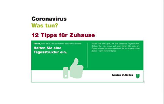 Corona, 12 Tips für Zuhause