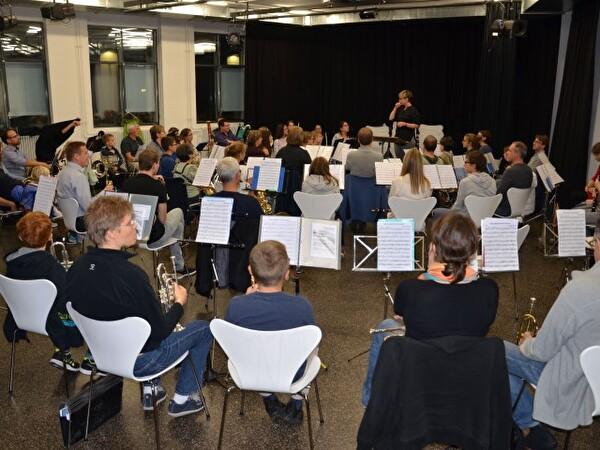 Probe Juborajo mit Stadtmusik Rapperswil-Jona
