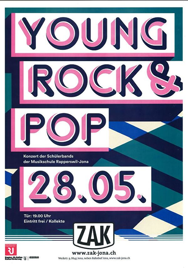 Plakat Young Rock & Pop-Konzert