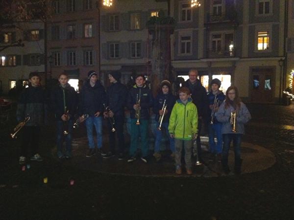 Strassenmusik am Engelplatz, 16.12.2015