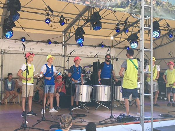 Sambagruppe am Seenachtsfest