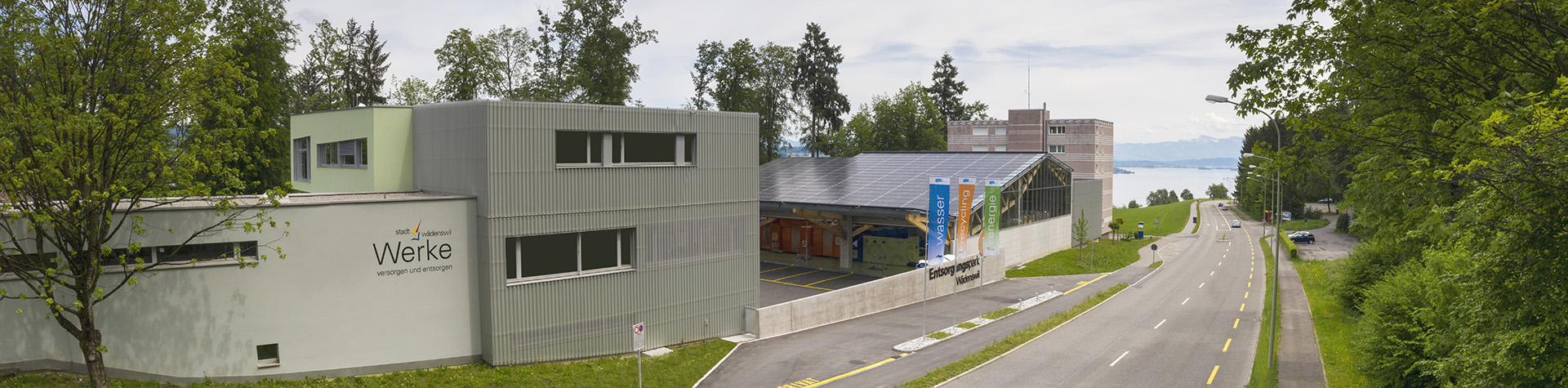 Ansicht Werke Wädenswil von der Zugerstrasse aus.