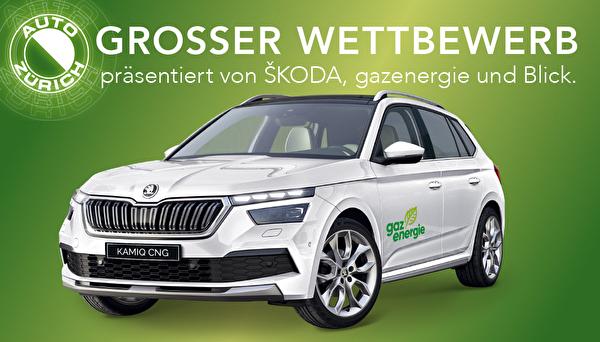 Grosser Wettbewerb von Auto Zürich präsentiert von Skoda, gazenergie und Blick.