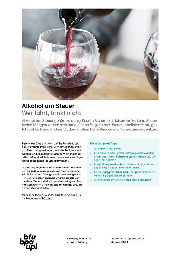 Alkohol am Steuer - Wer fährt trinkt nicht