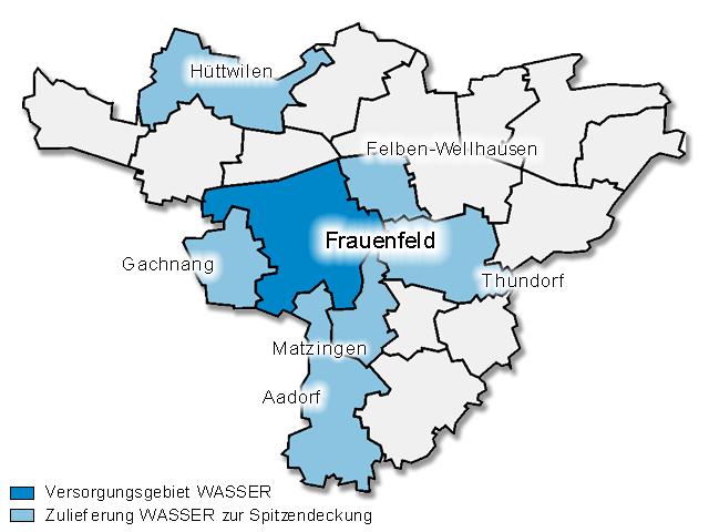 Versorgungsgebiet Wasser
