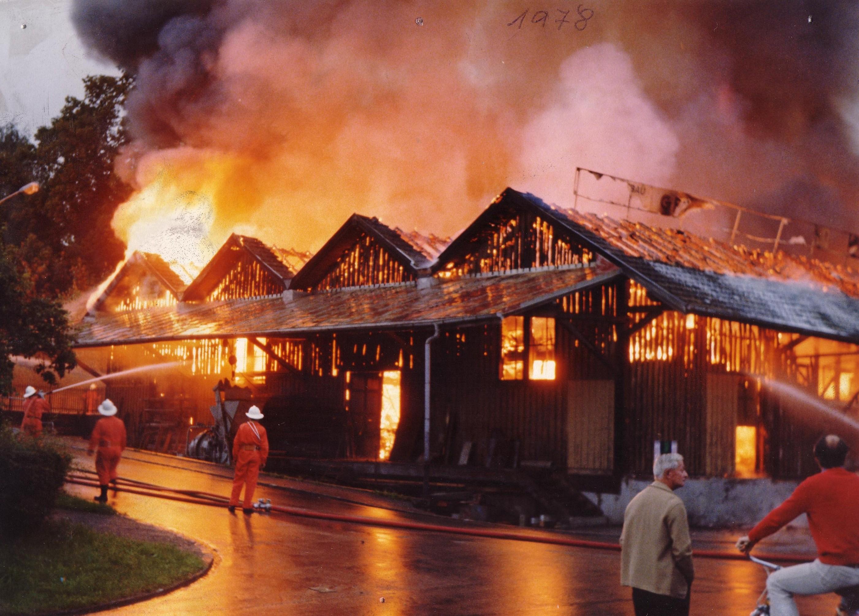 1978 Brand Lagerhaus