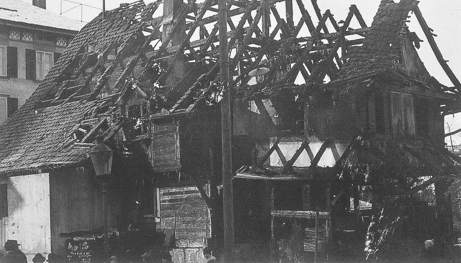 1924 Brand der alten Post